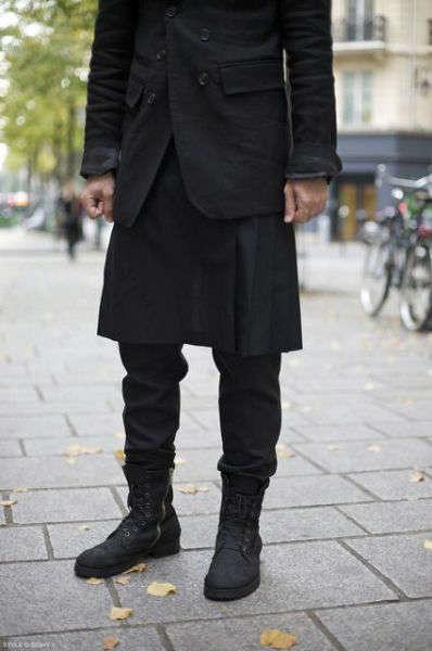 reglas de moda para hombres skirt