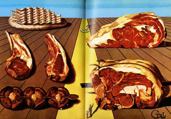 salvador dali cookboook gluttony meat-w696-h687