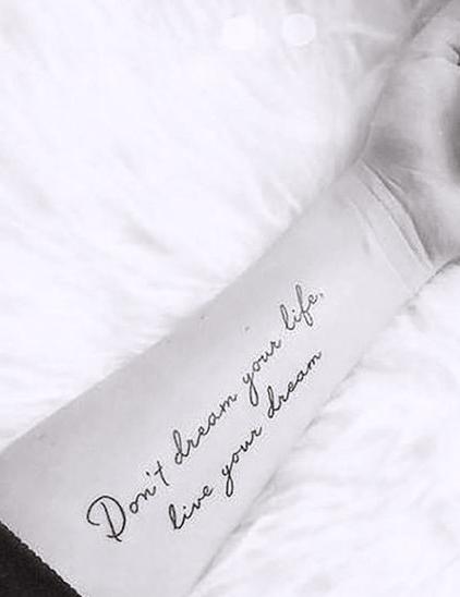 tattoos self-confidence live your dream