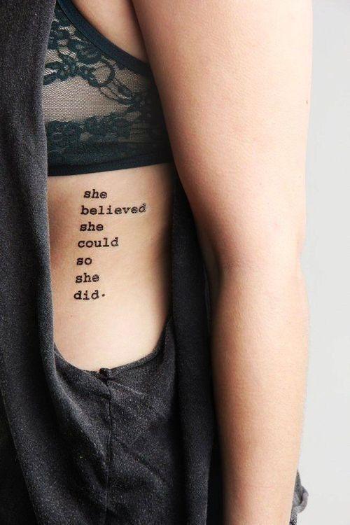 tattoos self-confidence so she did