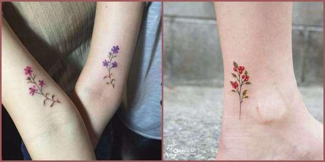 tatuajes de flores silvestres 4