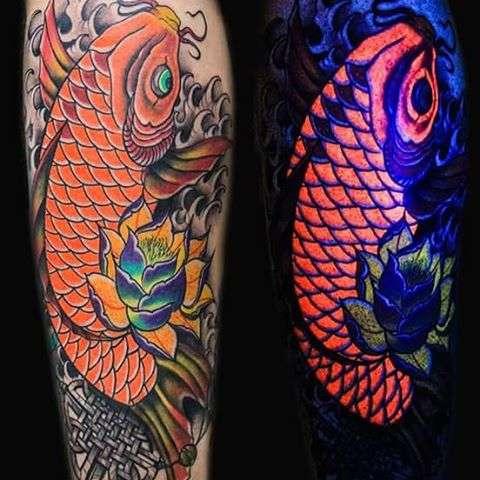 tatuajes en color neon pez