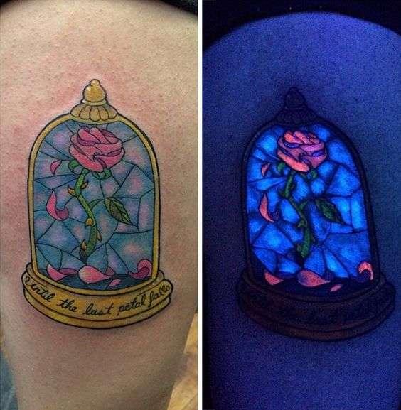tatuajes en color neon rosa