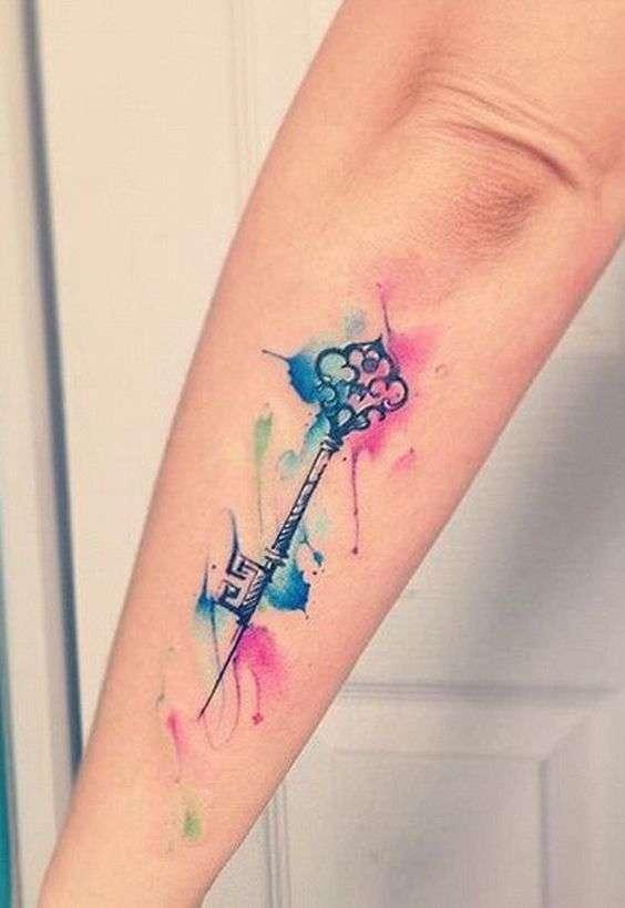 tatuajes para cerrar ciclos acuarela