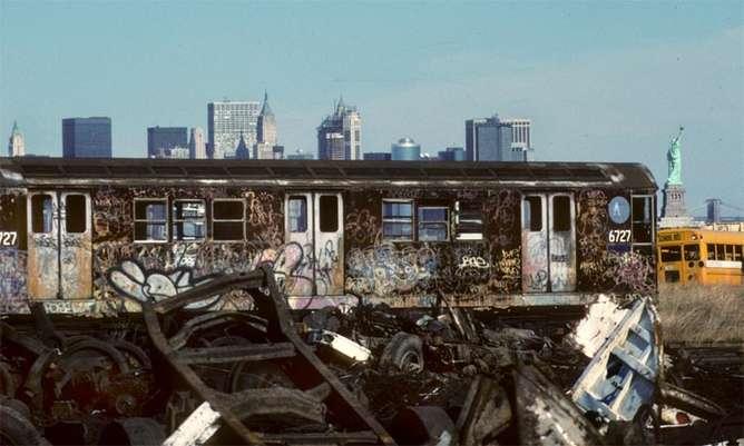 tren fotografias de nueva york en los 80