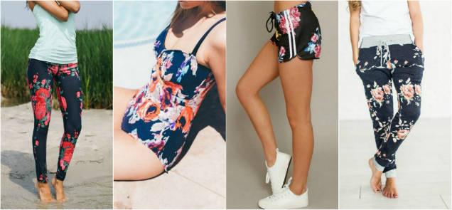 trendy floral prints sports wear-w636-h600