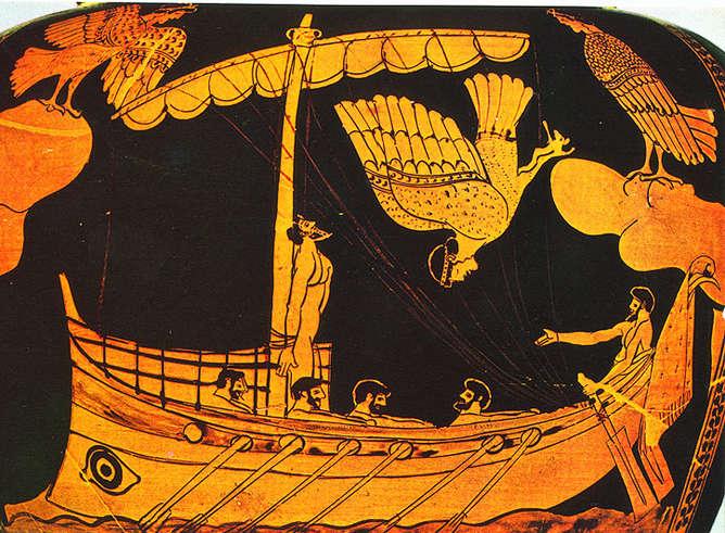vasija griega sirena