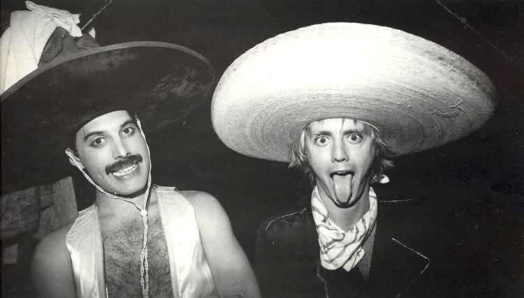 Los integrantes de Queen durante el concierto