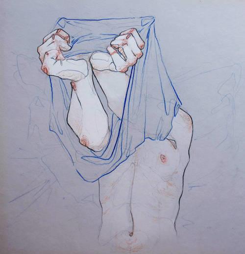 Adara Sanchez Anguiano erotic illustrations belly