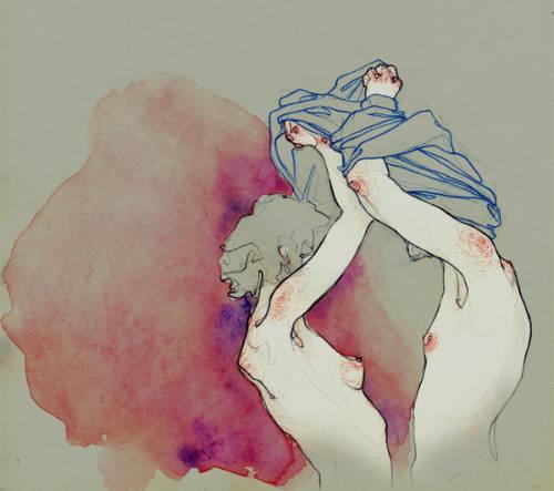Adara Sanchez Anguiano erotic illustrations couple