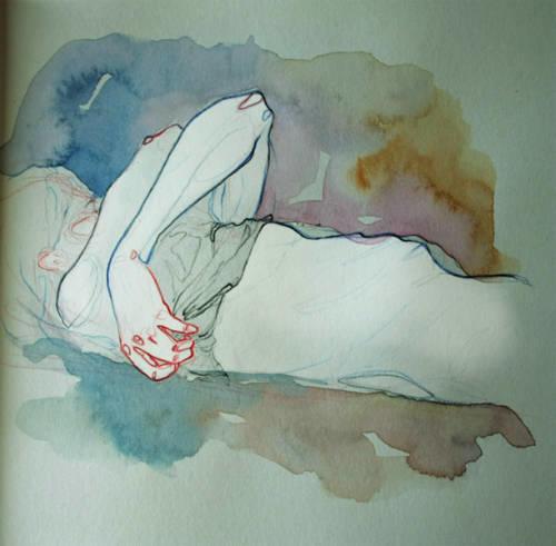 Adara Sanchez Anguiano erotic illustrations lying
