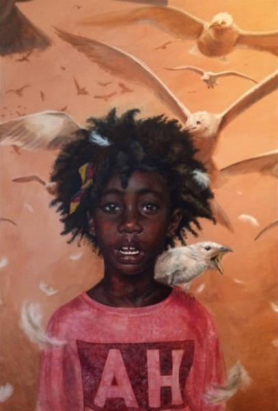 Harmonia Rosales black woman paintings birds-w600-h600