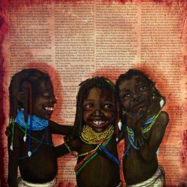 Harmonia Rosales black woman paintings girls-w600-h600