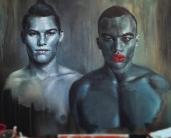 Harmonia Rosales black woman paintings men-w600-h600