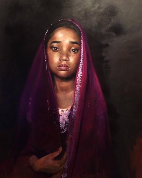 Harmonia Rosales black woman paintings veil-w600-h600