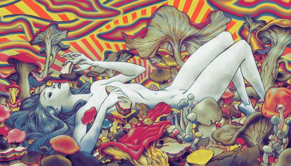 Ilustraciones de lo que tu mente imagina bajo el efecto de las drogas fungi