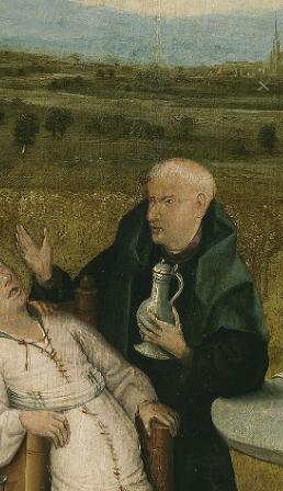 La extraccion de la piedra de la locura detalle sacerdote