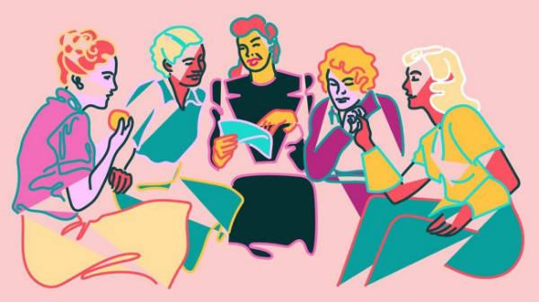 Marina Esmeraldo women illustrations reunion-w600-h600