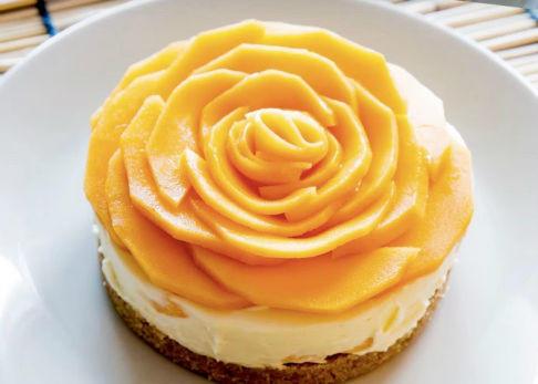 Postres de mango- Cheesecake