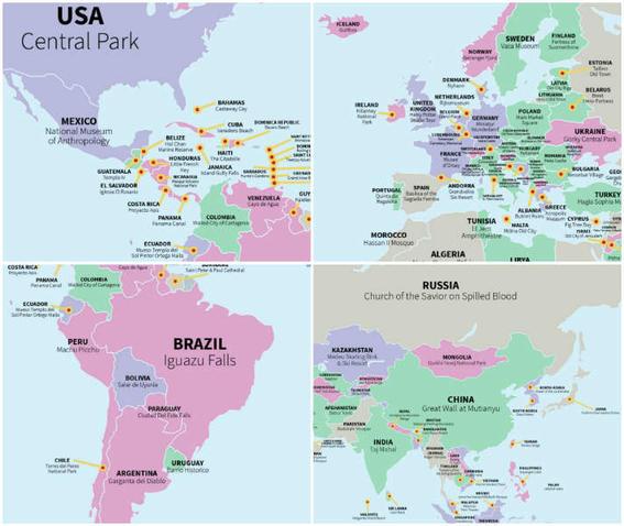 atracciones mas visitadas del mundo mapa-h600
