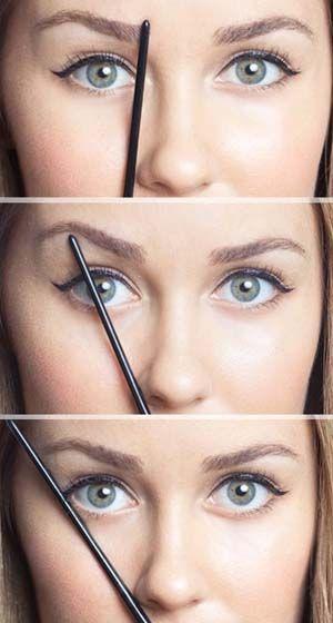 como tener cejas perfectas medicion