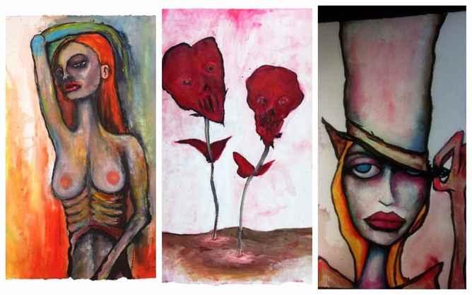 Resultado de imagen para pinturas de marilyn manson