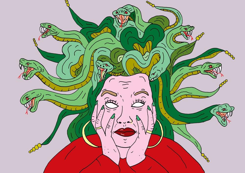ilustraciones Venus Libido medusa
