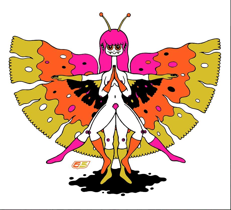 ilustraciones de oliver hibert mariposa