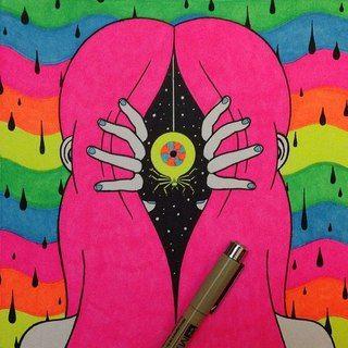 ilustraciones de oliver hibert ojo