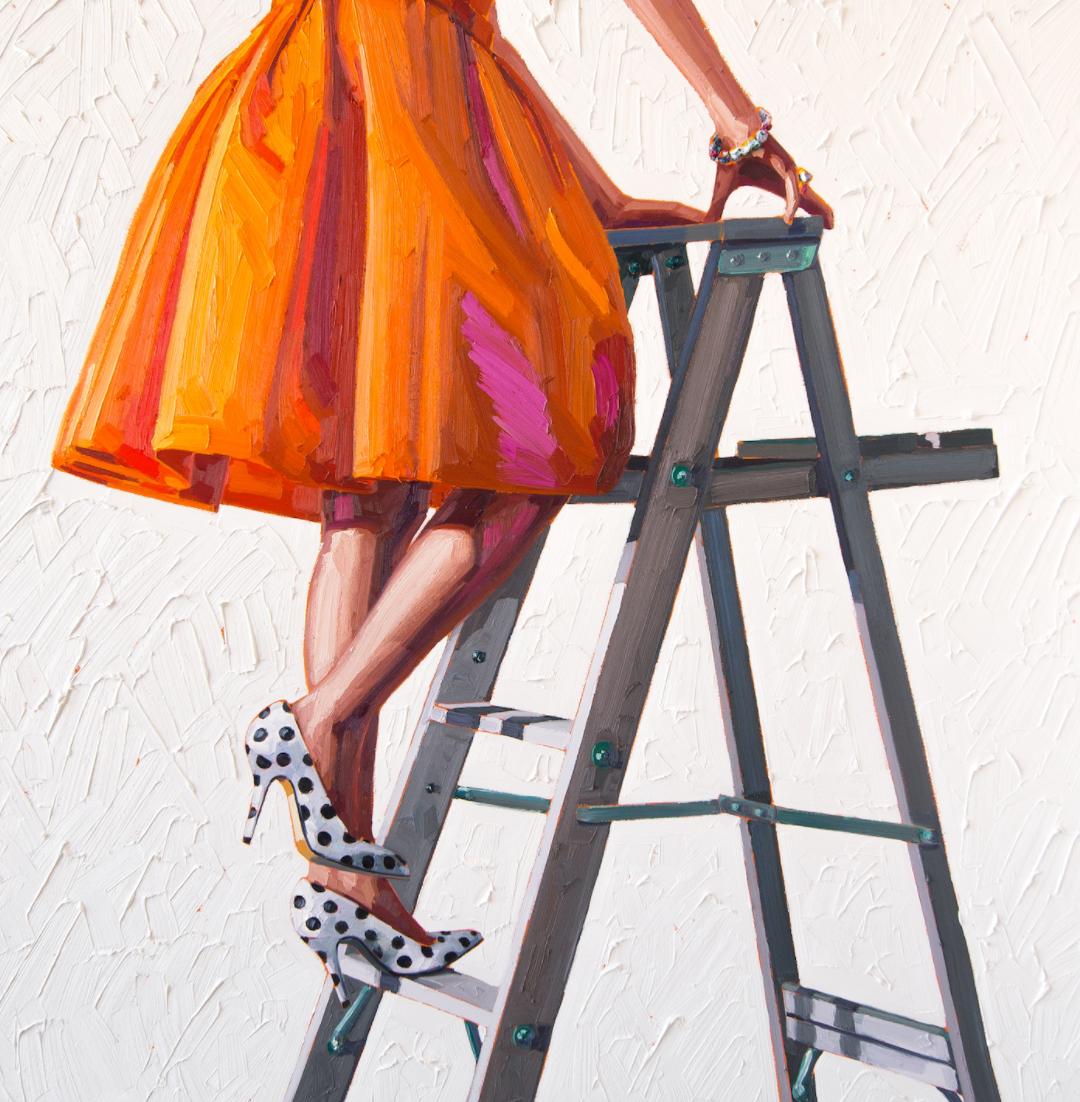 obras de kelly reemtsen vestido naranja
