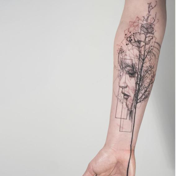 tatuajes geom tricos y abstractos que te obsesionar n dise o. Black Bedroom Furniture Sets. Home Design Ideas