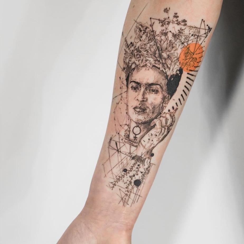 tatuajes abstractos. frida
