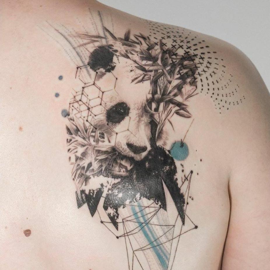 tatuajes abstractos. panda