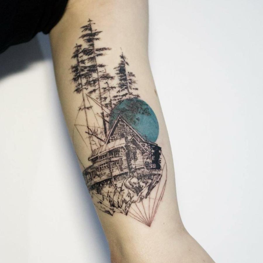 Tatuajes Geométricos Y Abstractos Que Te Obsesionarán Diseño Diseño