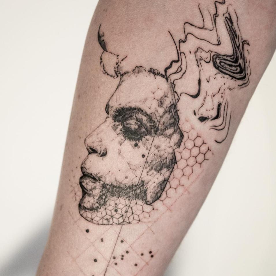tatuajes abstractos. venado