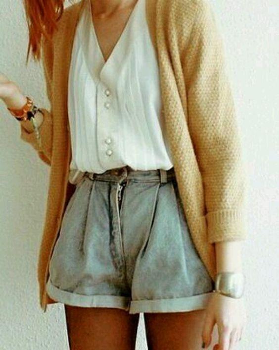 thrift shopping fashion trend shorts