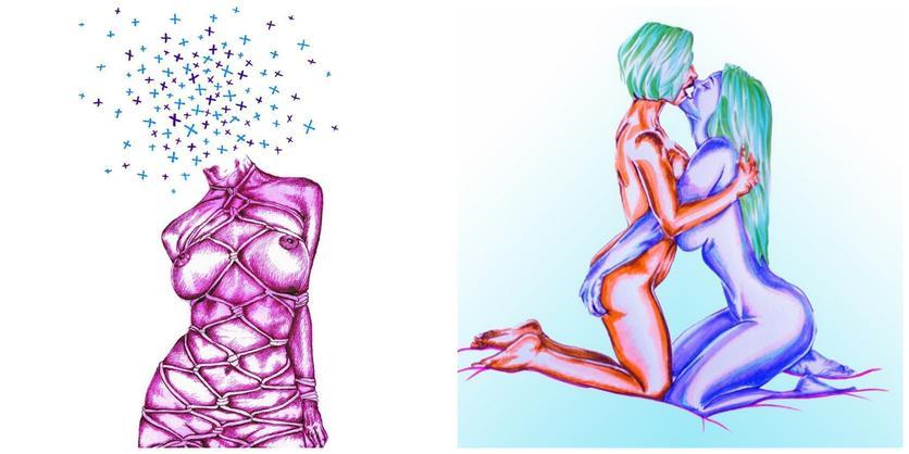 Ilustraciones sobre la magia y la lujuria de mis curvas 4