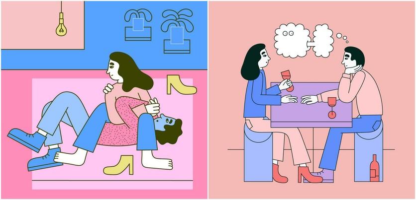 Las etapas del amor millennial en 14 ilustraciones 2