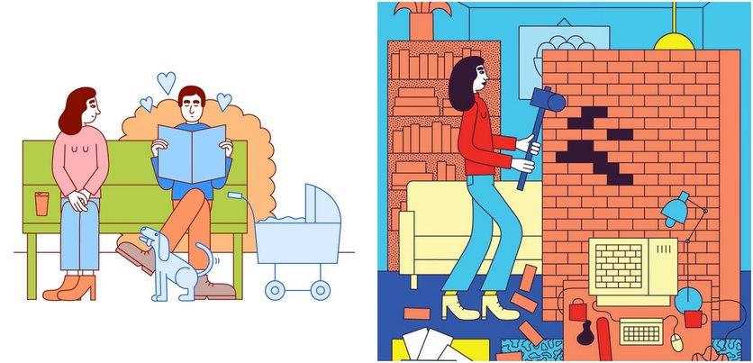 Las etapas del amor millennial en 14 ilustraciones 0