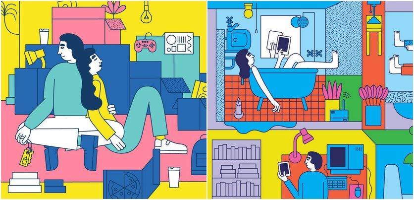 Las etapas del amor millennial en 14 ilustraciones 4