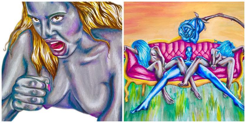 Ilustraciones sobre la magia y la lujuria de mis curvas 2