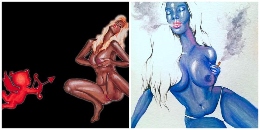 Ilustraciones sobre la magia y la lujuria de mis curvas 6