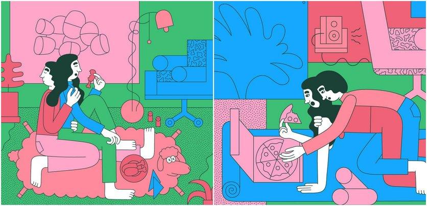 Las etapas del amor millennial en 14 ilustraciones 1