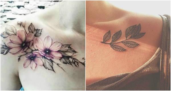 collarbone tattoos flower-w600-h600