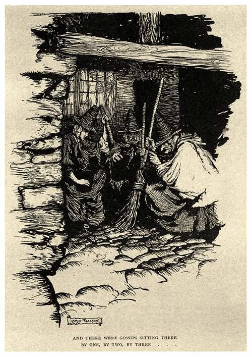 ilustraciones de brujeria y ocultismo arthur rackham