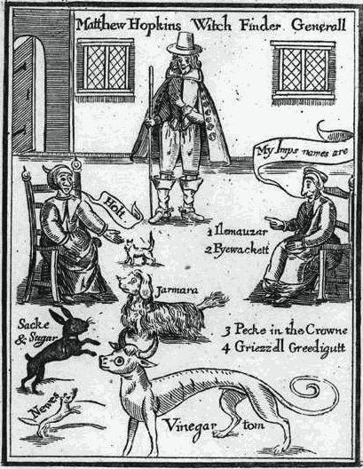 ilustraciones de brujeria y ocultismo matthew hopkins
