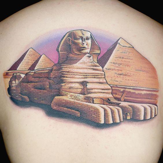 tatuajes de simbolos egipcios esginge