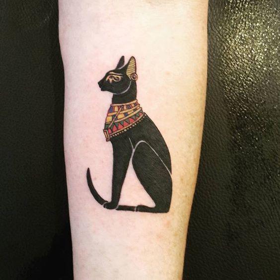 tatuajes de simbolos egipcios gato