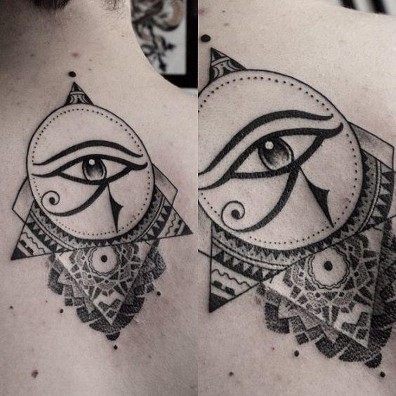 tatuajes de simbolos egipcios ojo geometria