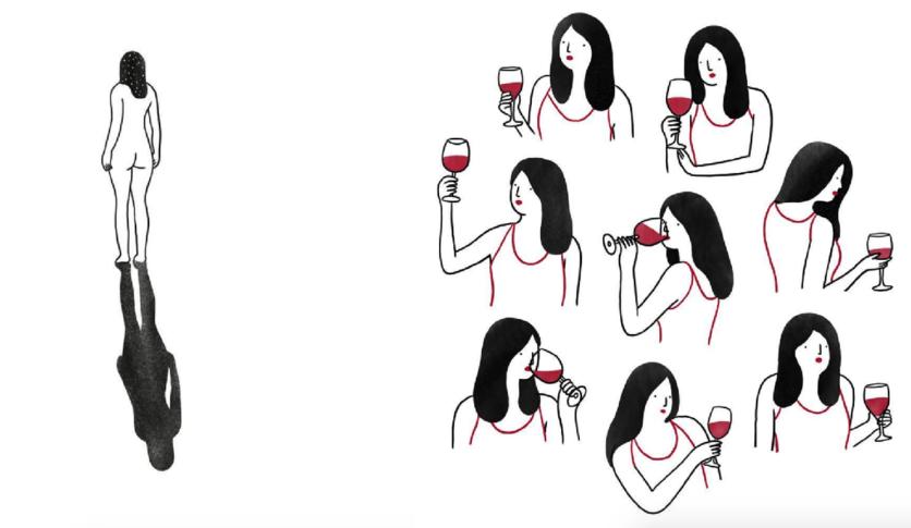 Ilustraciones de mujeres que permiten que les rompan el corazón 1